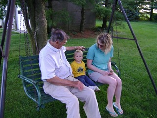 Grandpa Colin and Mama on Swing