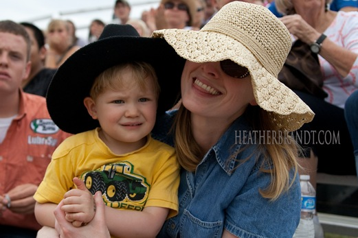 Mama in Hat & Colin @ Rodeo Lanesville Sept. 2010