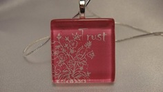 Trust Pendant with silver chain
